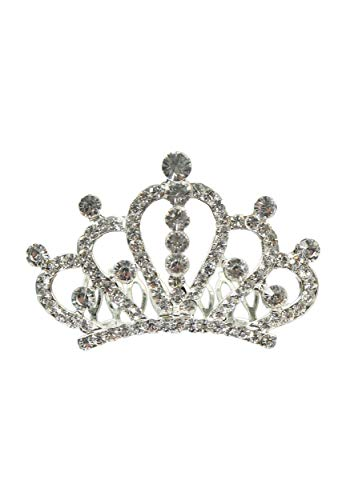 Breakfast at Tiffany's Sparkling Silver Tone Tiara Crown Standard