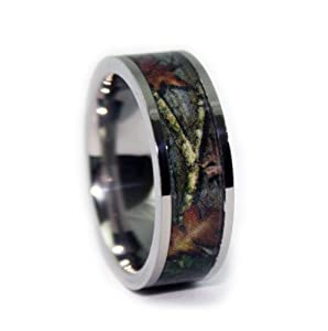 camo wedding rings by 1 camo camo engagement rings flat titanium - Orange Camo Wedding Rings