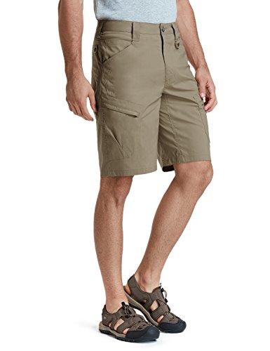 CQR Men's Tactical Lightweight Utiliy EDC Cargo Work Uniform Shorts, Urban Driflex(txs410) - Tan, -
