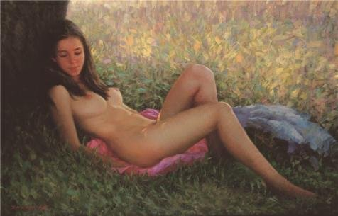The Perfect effect Canvas of oil painting 'Nude Woman' ,size