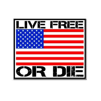 Live Free Die Notebook Sticker