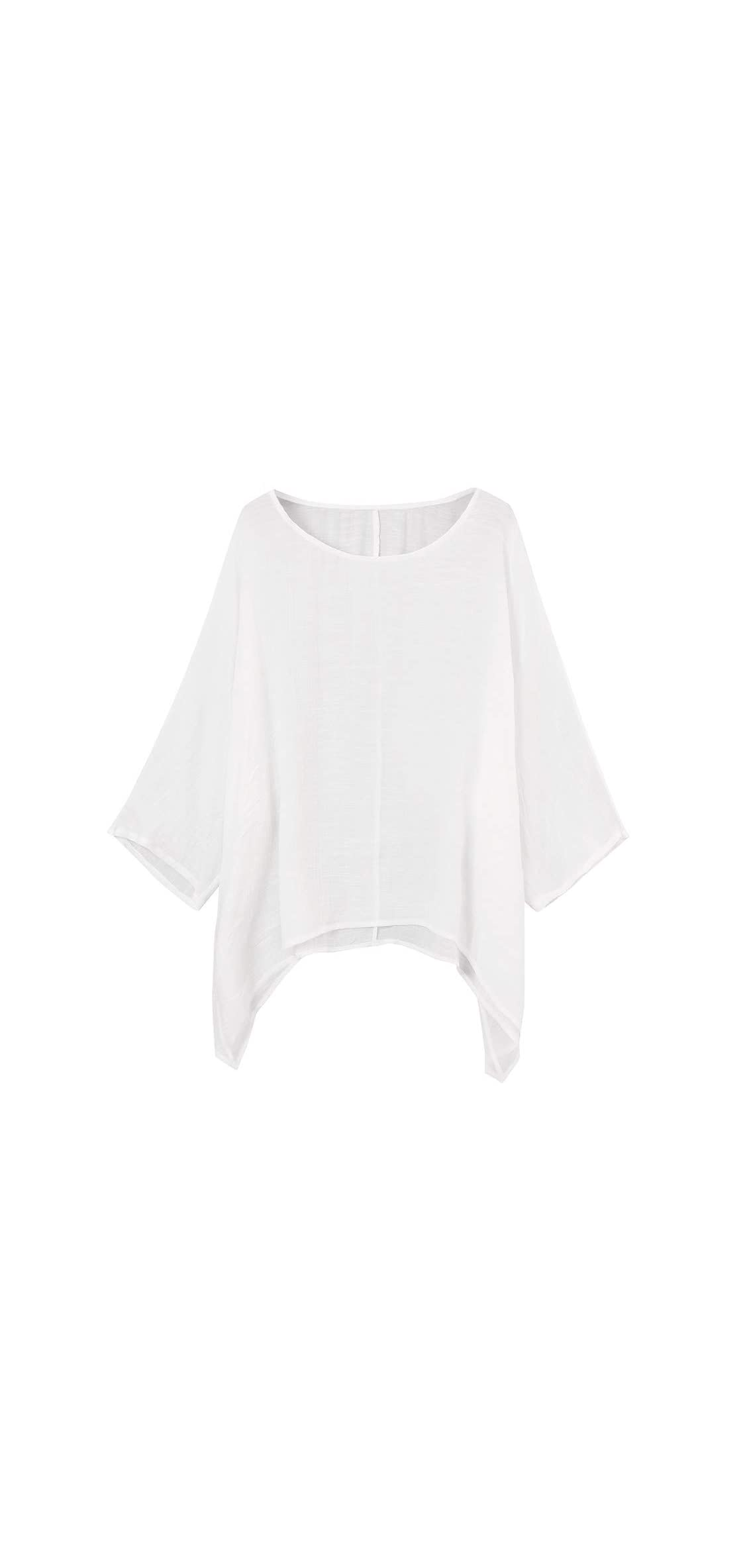 Women's Blouse Daily Casual Plus Size Loose Tops Cotton