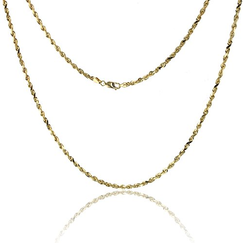 Yellow Gold Solid Dc Rope - 7