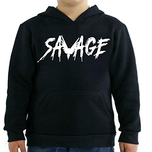 fresh tees Savage Maverick Logan Paul Kids Hoodie (large/10-12 yrs, Black)