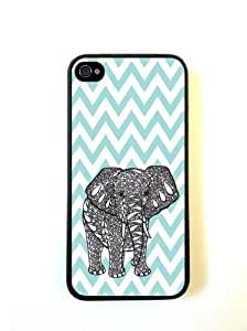 Tiffany Blue Chevron Elephant iphone 5 Case - For iphone 5- Designer TPU Case...