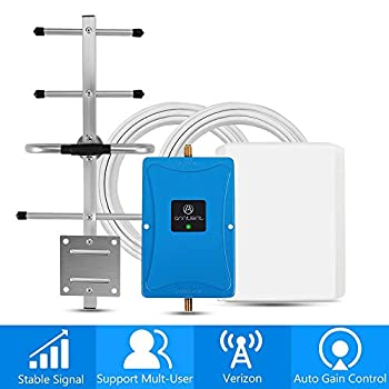 Image of Signal Boosters Verizon 4G Cell Phone Signal Booster for Home and Office - Enhance Your LTE Voice and Data by 65dB 700MHz Band 13 Signal Repeater and Panel/Yagi Antennas - Extend Coverage Up to 4,500Sq Ft