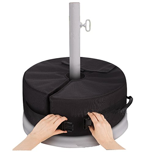 Hi Suyi Detachable Round Sunshade Parasol Umbrella Base Weight Bag Heavy Duty,Up to 30kg, Weather Resistant