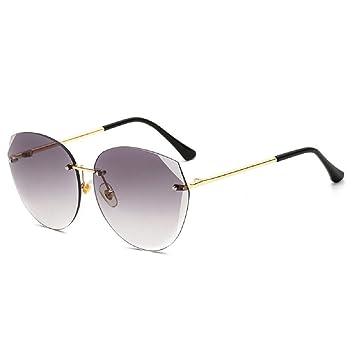 WFL Gafas de Sol sin Marco poligonales, Lentes de Color ...