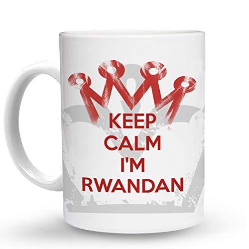 Makoroni - KEEP CALM I'M RWANDAN - 11 Oz. Unique COFFEE MUG, Coffee Cup