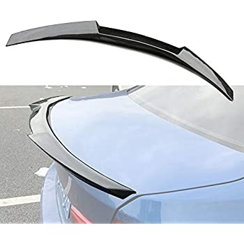 Pre-painted Black Performance Style Trunk ABS Spoiler Tail Lip Deck Boot Wing Compatible with 05-12 E90 3-Series /& M3