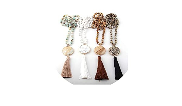 Amazon.com: QIUHUAXIANG Fashion Bohemian Jewelry Semi Precious ...