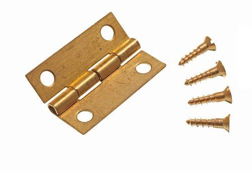 Lot Of 24 Mini Scharniere Fü r Schmuckschatullen mit Pins Messing 25Mm DIRECT HARDWARE