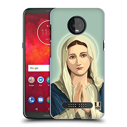 Head Case Designs Virgin Mary Religious Portraits Hard Back Case Compatible for Motorola Moto Z3 / Z3 Play