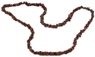 CrystalAge Collar con forma de piedra preciosa roja ojo de ...