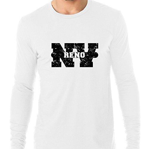 Reno, Nevada NV Classic City State Sign Men's Long Sleeve (Party City Reno Nv)