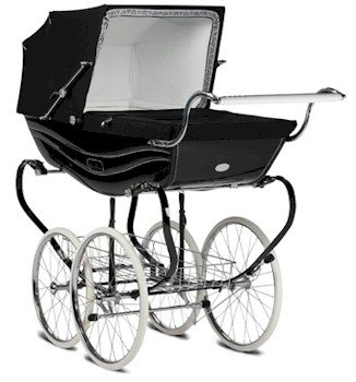 Silver Cross Balmoral Pram - Black by Silver Cross