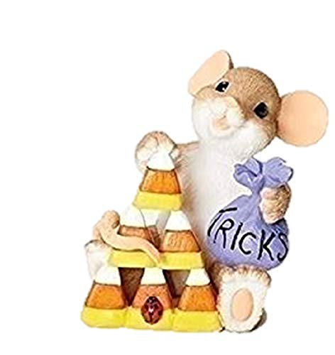 Charming Tails Trick or Tree Mouse with Candy Corn Tree Halloween Figurine 30382 -