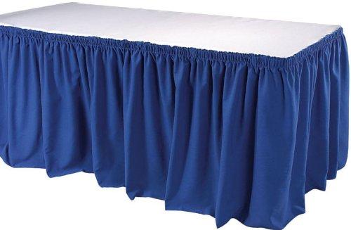 Phoenix 17-1/2-Feet Table Skirting, Shirred, Royal Blue ()