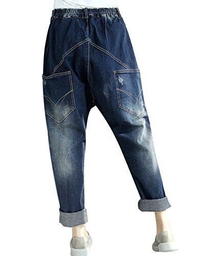 Taille en t 3 Youlee jeans Femmes Printemps jean Pantalons Style Sarouel elastique 0BFxwTqnxt