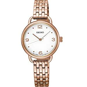 Seiko Women's White Dial Stainless Steel Band Watch - SUR672P1