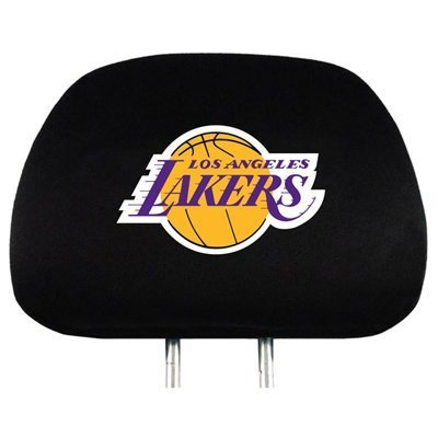 Los Angeles Lakers NBA Basketball Car Headrest Seat Cover - One Pair
