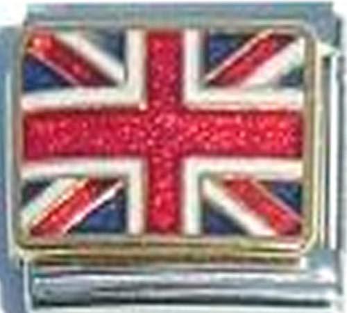 Stylysh Charms UK United Kingdom Flag Ceramic Italian 9mm Link PQ052