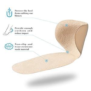 Yosoo Heel Pads Grips Liners Back Heel Cushion Insoles for High Heels Blisters,Shoe Gel Inserts(2 Pairs)