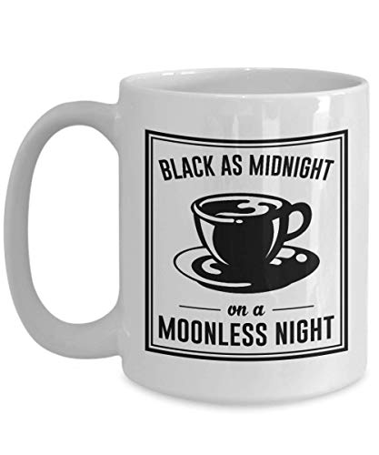 Black As Midnight On A Moonless Night Ceramic Coffee Mug - Twin Peaks Enamel Pin 11Oz 15Oz