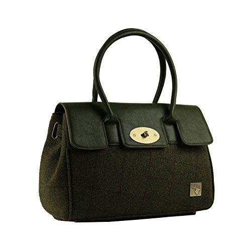 Handbag Country Green Tweed Green Tweed Handbag Country Tweed pwtxqHEtR