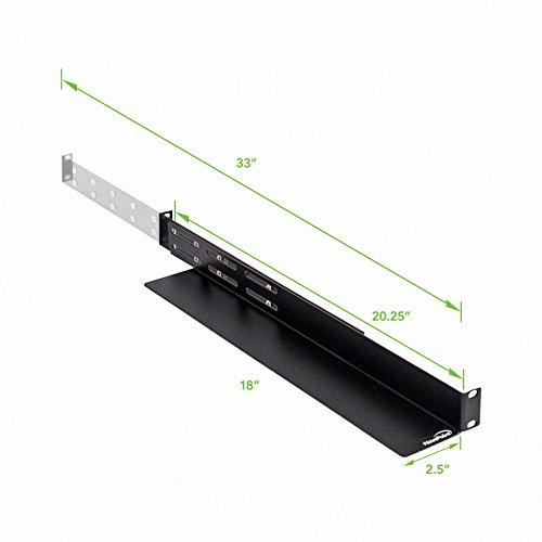 Navepoint Adjustable Rack Mount Server Shelf Shelves Rail
