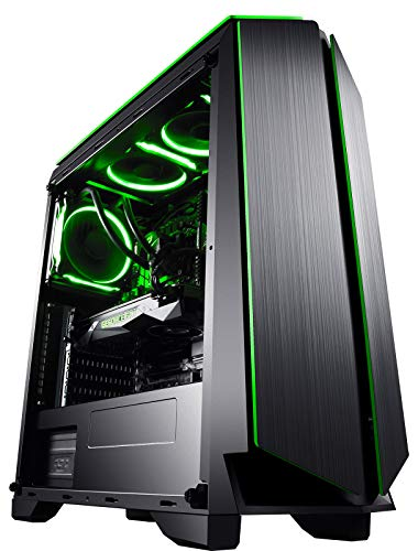 CUK Mantis Gaming PC Liquid Cooled Intel i9-9900K, 32GB DDR4 2666 RAM, 1TB NVMe SSD 2TB HDD, NVIDIA RTX 2080 Ti 11GB, 750W Gold PSU, Windows 10 Best Tower Desktop Computer for Gamers