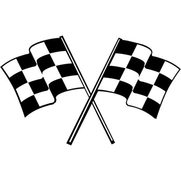Racing Checkered Flag License Plate Racing Chrome and Regular Vinyl Choices