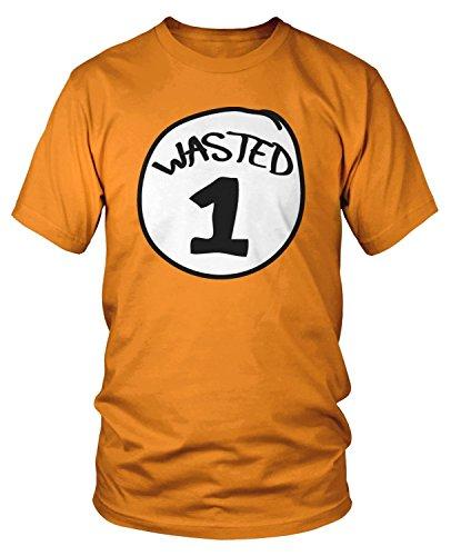 Amdesco Men's Wasted 1 T-Shirt, Orange 3XL -