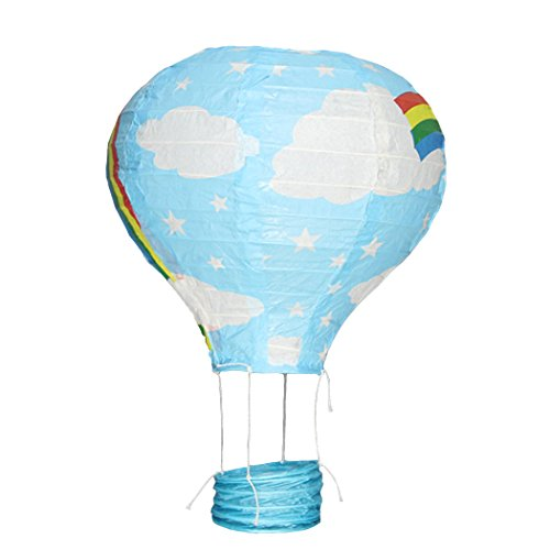 YueLian 25cm Rainbow Hot Air Balloons Paper Lanterns Christmas Birthday Party (Mickey Mouse Baloons)
