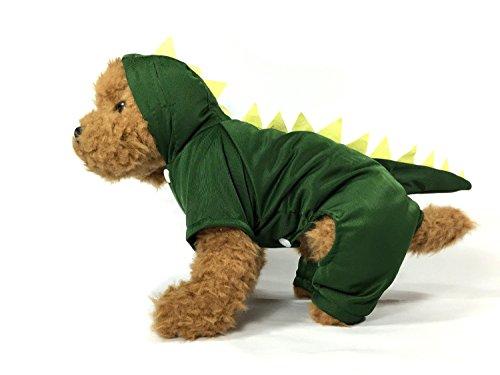 TheDogWear.com Dark Green Dinosaur Dog Costume with Hoodie -