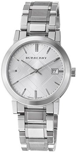Burberry Men's BU9000 Large Check Stainless Steel Bracelet - Men Burberry Watch