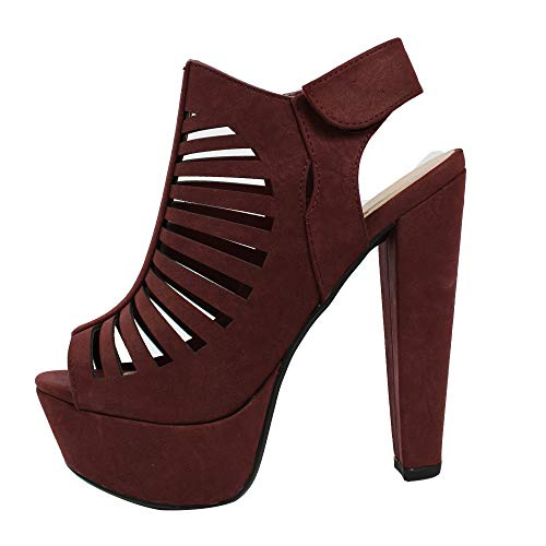 Image of Speed Limit 98 Women's Manji Open Toe Cutout Strappy Platform Heel