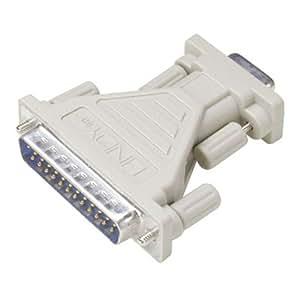 Lindy Serial Adapter 25-pin D M 9-pin D FM Gris adaptador de cable - Adaptador para cable (25-pin D M, 9-pin D FM, Gris)
