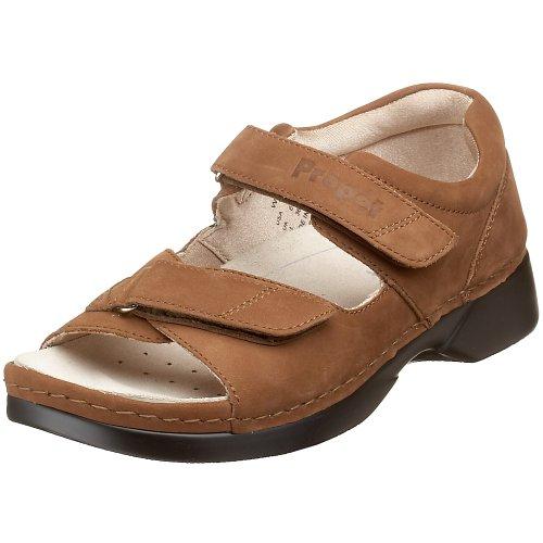 Nubuck Walker Pedic Chocolate Propet W0089 Women's Sandal taqYRwY