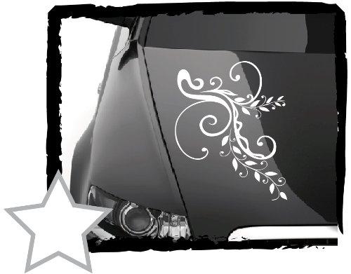 DD Dotzler Design –  V1 Flores –  34 x 23 cm –  Auto –  Adhesivo Blanco