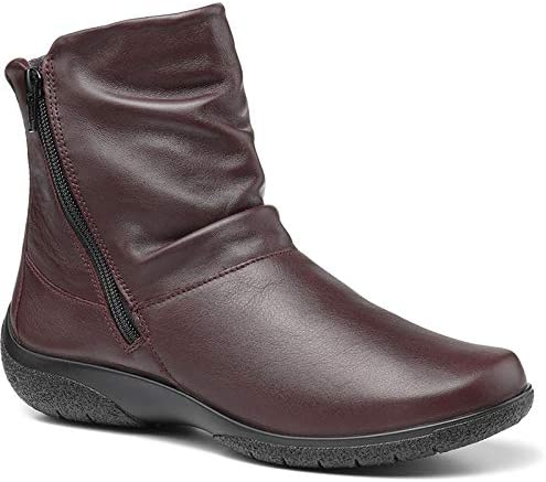 Hotter Women's Whisper Wide Fit Boot Leather Zip Fastening Adult Ankle Boots Casual Shoe Boot