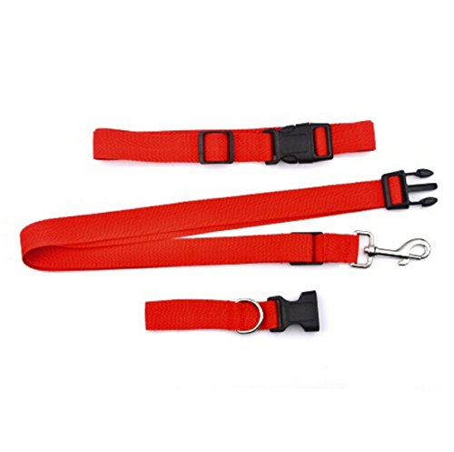 Esscoe Running Dog Leash Hands Free Great for Walking, Running, Biking and Jogging 6 colors dog lead suitable for dogs weight >2.5kg/Running Dog Leash Hands Free- Great for Walking, Running, Biking and Jogging/Stunt Runner Hands-Free Dog Leash/Tam Hands-free Dog Leash and Belt system (Red)