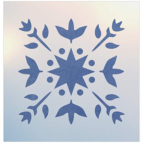 Starflower Block Quilt Stencil - The Artful Stencil