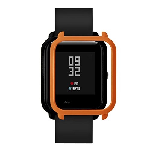 Ganenn Watch Protect Case, SUKEQ Slim Colorful Full Protective Bumper Case Cover for Xiaomi Huami Amazfit Bip Youth Watch (Orange)