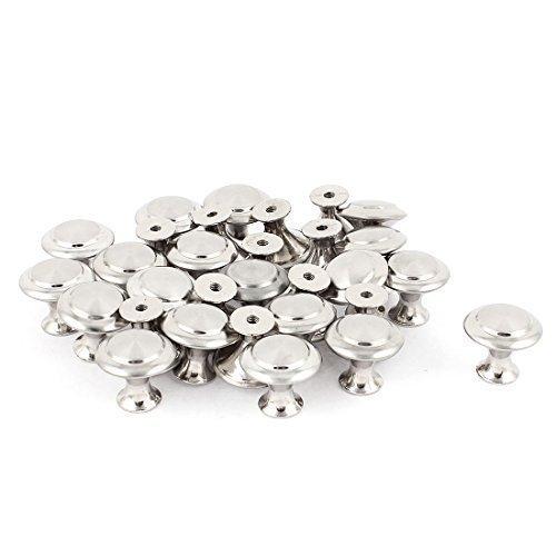 sourcingmap® 24mm Rund Metall Schrank Tür Schubladengriff Knauf 30 Stück