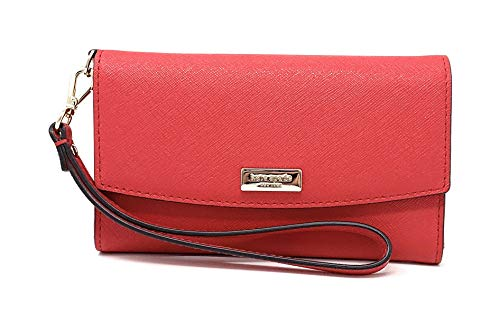 Kate Spade York Laurel Way Saffiano Leather Cell Phone Wristlet Chili