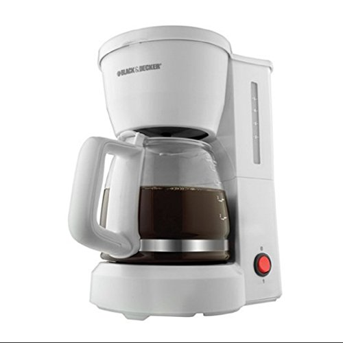 Ap Exit 9 5-Cup Drip Coffeemaker with Glass Carafe, White