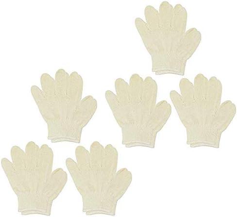 日本製 綿100% 子供用 軍手 幼児用(幼稚園児・小学生低学年推奨)6組(6双) 14cm 生成 13ゲージ