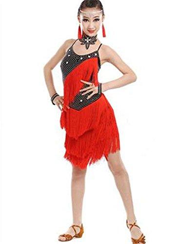 professionnelle danse dance dance red shining latine dance danse de de show show black show Robe dance 5nwxpqtzw