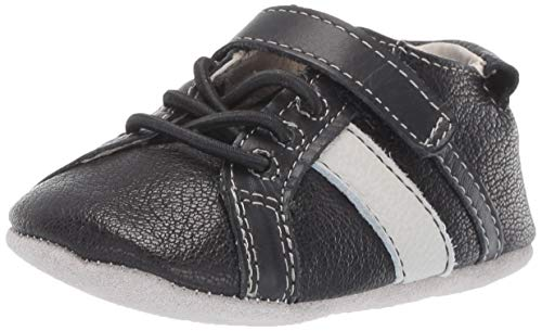 (Robeez Boys' Sneaker-First Kicks Crib Shoe, Rowan Black, 12-18 Months)